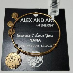 Alex and Ani because I love you Nana bracelet